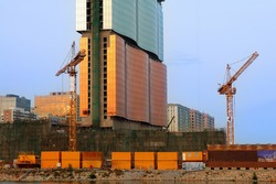 Construction site of a new casino building