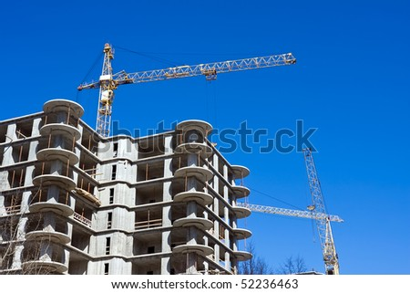 Construction site of an apartments building