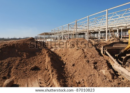 Construction site of shopping center