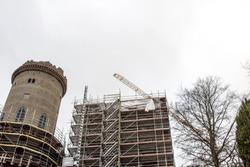 construction site old castle germany, Kassel