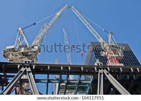 Construction site on 122 Leadenhall Street in London, UK. May, 2012 - stock photo