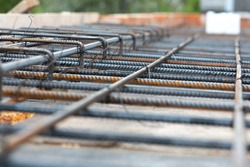 construction site, preparation for pouring concrete, metal reinforcement, graphic resource, construction works