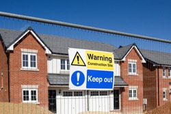 Construction site rules and regulations notice. Keep Out Warning Construction site.