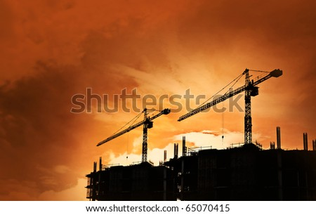 construction site silhouette background
