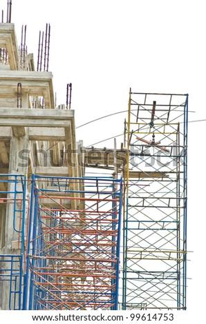 Construction site, unfinished building