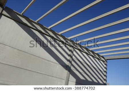 Construction site, with precast concrete structure