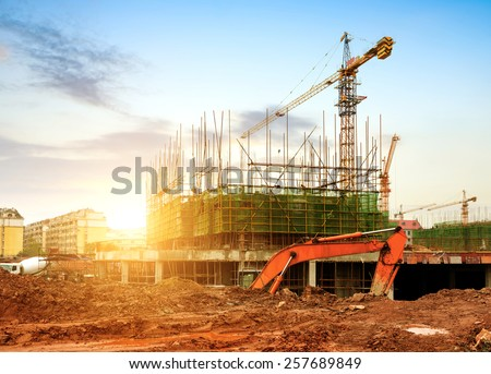 construction site  workers and...