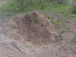 Construction soil mud heap pile