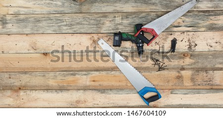 Construction tool Set of tools. Carpenter tools