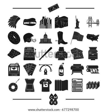 construction, tourism, isport and other web icon in black style.tools, business, roulette, icons in set collection. Stock fotó ©