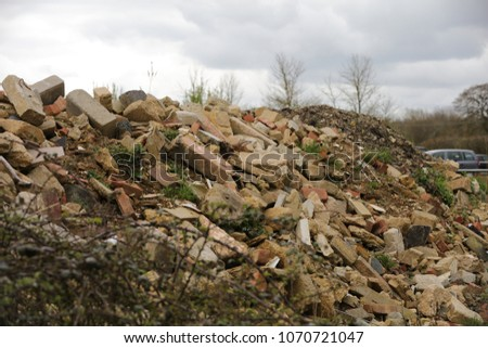 Construction waste material #1070721047