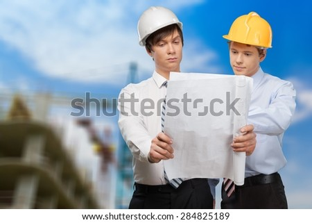 Construction, White Collar Worker, Construction Site.