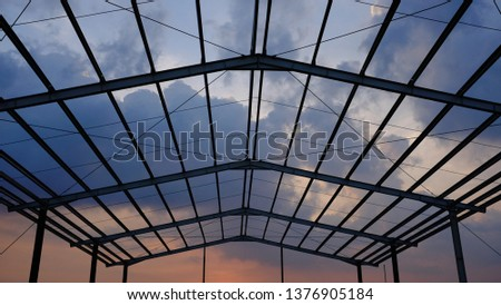 Construction with sky background #1376905184