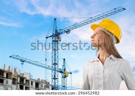 Construction, Women, Female.