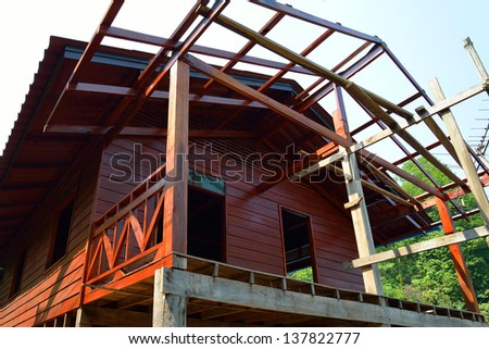 construction wooden home