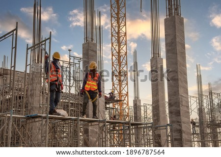 Construction worker at construction site Foto stock ©