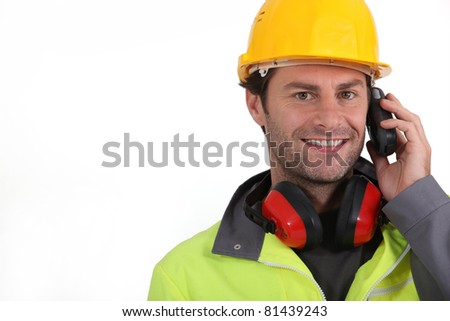 construction worker close-up