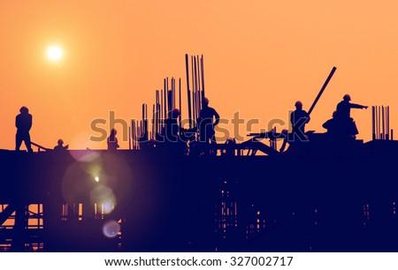Construction Worker Engineering Built Building Concept