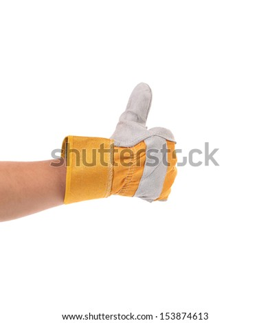 Construction worker glove thumbs up
