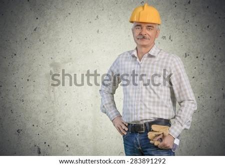 Construction Worker, Manual Worker, Hardhat.