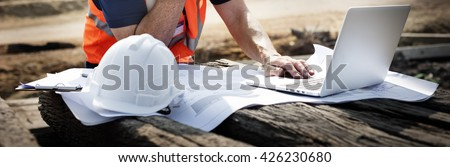Construction Worker Planning Contractor Developer Concept #426230680