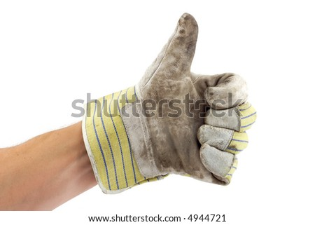 Construction worker thumbs up