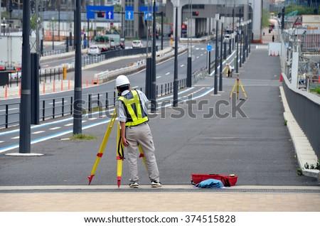 Construction workers, Land Surveyors, Japan