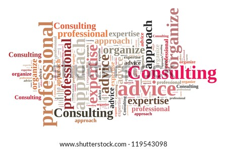 Consulting in word collage