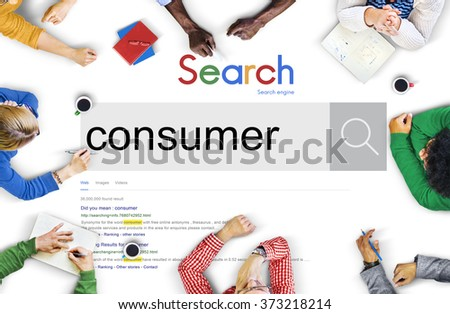 Consumer Buyer Marketing Business Concept #373218214