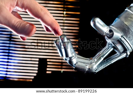 Contact between human and robot