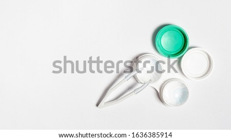 Contact lens, contact lens, on white background