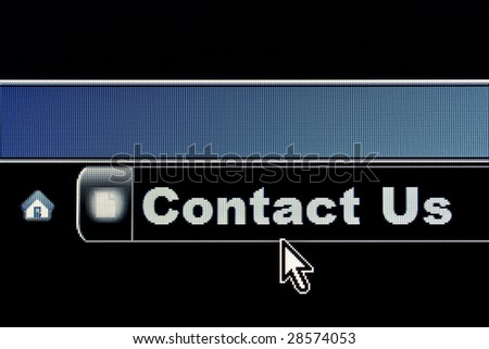 Contact Us concept for an internet webpage