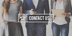 Contact Us Customer Support Inquiry Hotline Concept