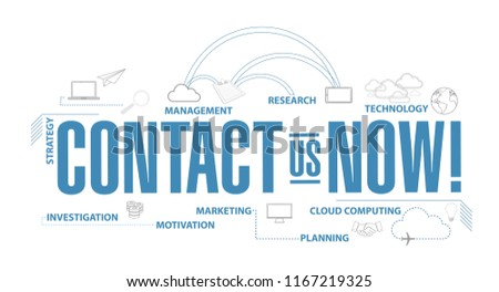 contact us now diagram plan concept isolated over a white background