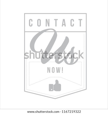 Contact us now Modern stamp message design isolated over a white background