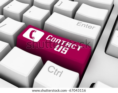 contact us on red keyboard button