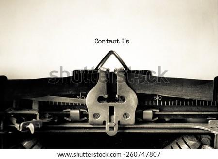 Contact US , website design , vintage typewriter