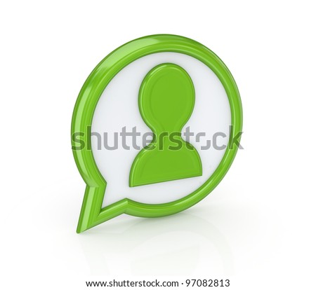 Contacts icon.Isolated on white background.3d rendered.
