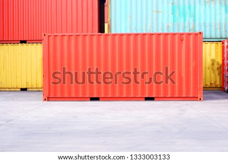 Container background is hidden In the container yard