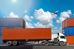 Container Cargo freight ship for Logistic Import Export