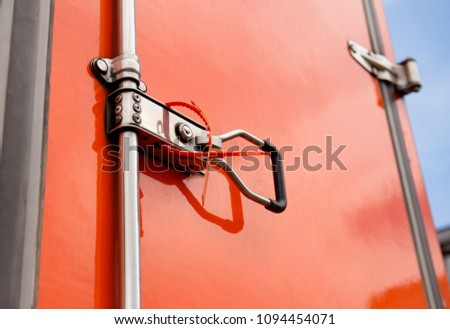 Free photos Red shipping container door | Avopix com