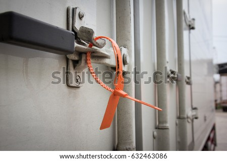 Container door truck lock with protective lead seal