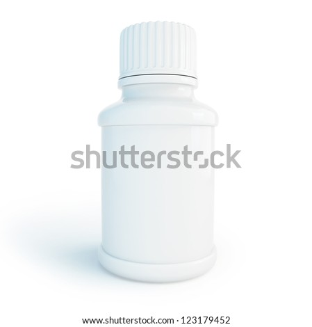 container for pills on a white background