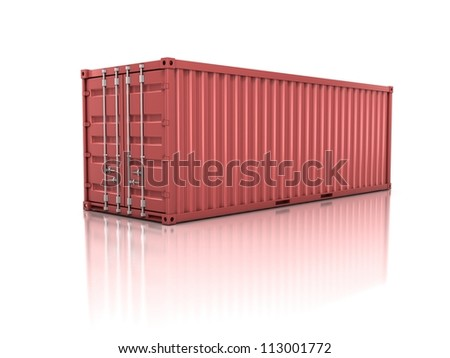 container isolated on white