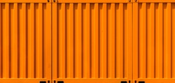 Container metal orange texture background, Orange cargo container shipping background for advertise, Texture and background cargo container.