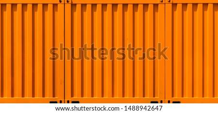Container metal orange texture background, Orange cargo container shipping background for advertise, Texture and background cargo container.