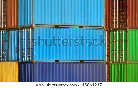 container port - stock photo