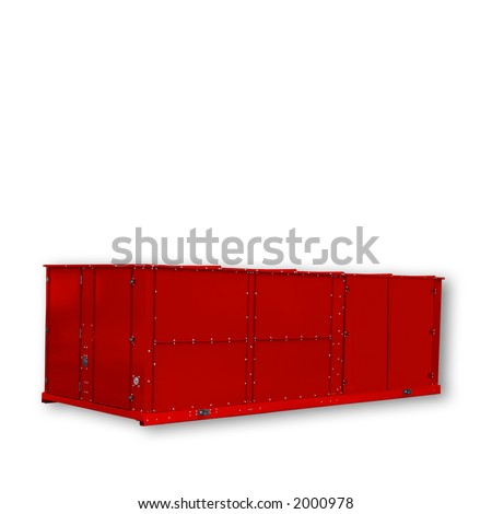 Container - Red - Clipping Path.