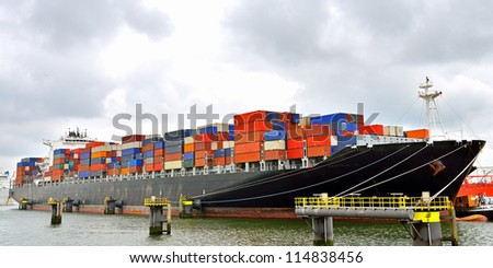 container ship in terminal