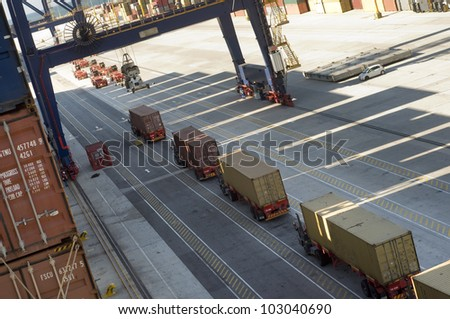 container terminal in african harbour